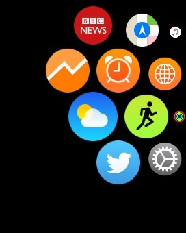 Bloggy Analytics on the watch homescreen